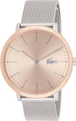 Lacoste Women's Moon Ultra Slim Stainless Steel Quartz Watch with Mesh Bracelet Strap Tone 16 (Model: 2001002)