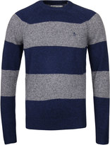 Penguin Medieval Blue Striped Lambswool Sweater