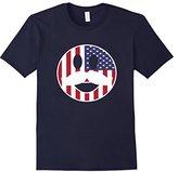 Men's Fourth of July 4th Shirt Patriotic Retro American Flag Tee Medium