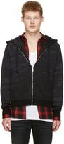 Saint Laurent Black Camo Zip Hoodie