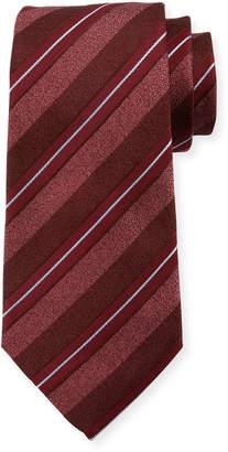 Emporio Armani Wide-Stripe Silk/Cotton Tie