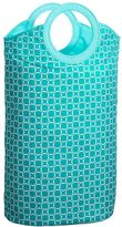 Easy Carry Laundry Bag, Aqua Geo Rings