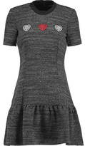 Markus Lupfer Embroidered Stretch-Knit Mini Dress