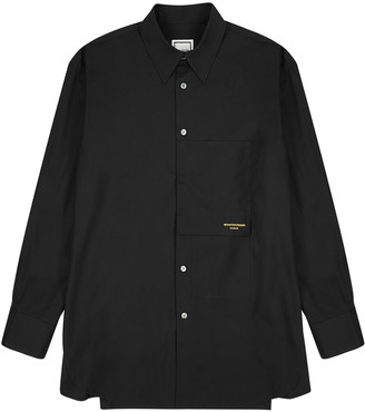 Wooyoungmi Black Logo-embroidered Cotton Shirt