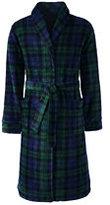 Classic Men's Plaid Fleece Robe-Blackwatch