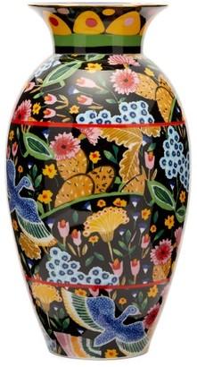 La DoubleJ Amphora Colombo-print Porcelain Vase - Multi
