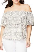 Rachel Roy Plus Size Women's Off The Shoulder Lace Top
