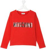 Moschino Kids - logo top - kids - Cotton/Spandex/Elastane - 14 yrs