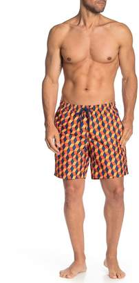 Trunks BEACH BROS Elastic Drawstring Printed Swim