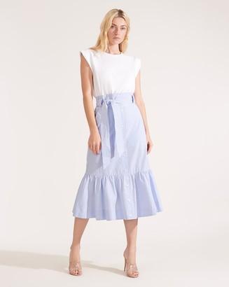 Veronica Beard Capri Mixed-Media Dress