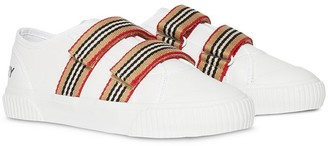 BURBERRY KIDS Icon strappy sneakers