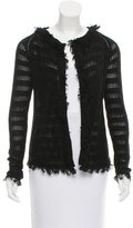 Inhabit Open Knit Fringe-Trimmed Cardigan w/ Tags