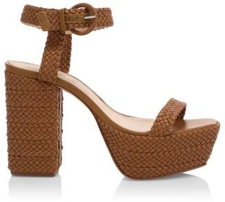 Schutz Sabella Braided Leather Platform Sandals