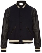 Saint Laurent Wool and leather bomber jacket
