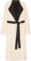 The Row Augustus two-tone wool and silk-blend wrap coat
