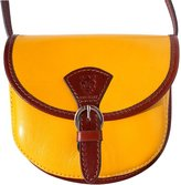 Florence Leather Market CLASSIC MINI CROSSBODY BAG IN SHINY COW LEATHER 224