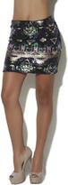 Arden B Tribal Sequins Mini Skirt