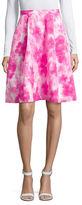 Ellen Tracy Floral-Print Box-Pleat Skirt