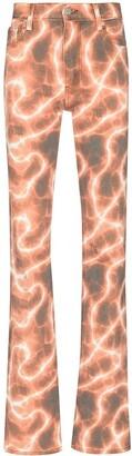 Misbhv Tie-Dye Print Straight-Leg Jeans