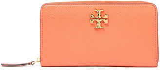 Tory Burch Two-tone Textured-leather Wallet
