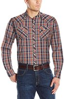 Wrangler Men's Long Sleeve Western Fashion Snap Shirt