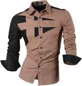 jeansian Men's Button Down Dress Shirts Tops 8397 XL