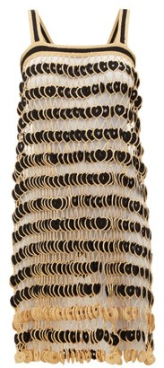 My Beachy Side - Kalel Crocheted-medallion Mesh Dress - Womens - Black Gold