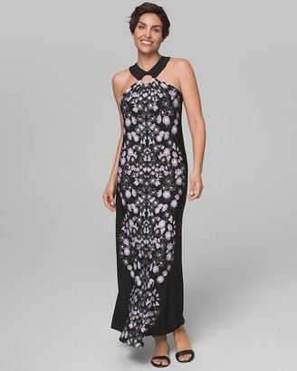 Soma Intimates Halter Ring Maxi Dress with Built-In Bra