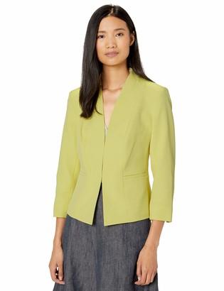 Kasper Women's Petite Lapel Open Front Stretch Crepe Jacket