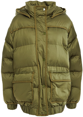 Sandro Sean Canvas-trimmed Quilted Shell Hooded Jacket