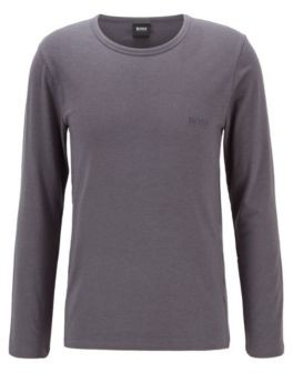 BOSS Long-sleeved underwear T-shirt in a cotton blend