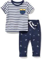 Old Navy Nautical Tee & Jersey Pants Set for Baby
