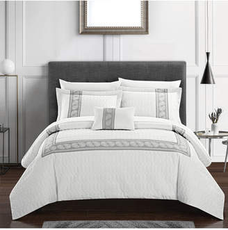 Chic Home Titian 8 Piece King Bed In a Bag Comforter Set Bedding