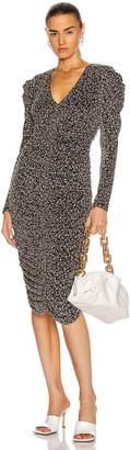 Jonathan Simkhai Edith Midi Dress in Black Multi | FWRD