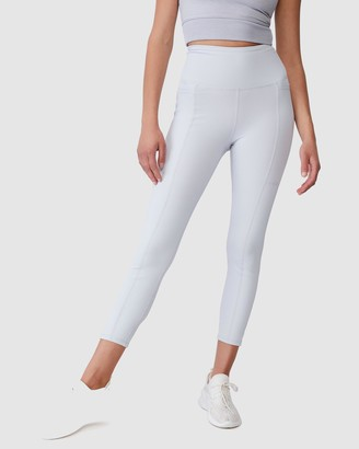 Cotton On Body Active - Women's Blue Tights - Rib Pocket 7-8 Tights - Size M at The Iconic