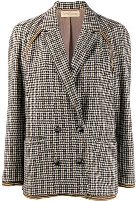 Versace Pre-Owned '1980s Houndstooth Jacket