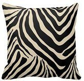 Little-Dreams Black and White Zebra Stripe Print Throw Pillow Covers Case Zippered Animal Style Home Sofa Two Sides