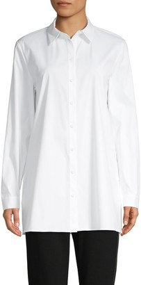 Lafayette 148 New York Long-Sleeve Cotton-Blend Shirt