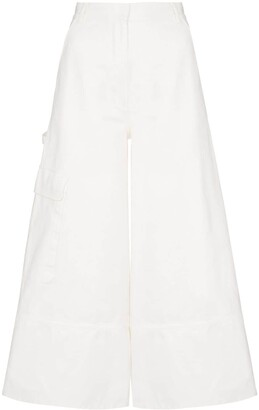 Moncler Wide-Leg Cropped Trousers