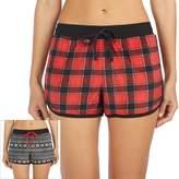 Cuddl Duds Women's Pajamas: Reversible Print Boxer Set