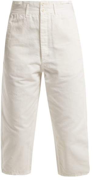 Chimala - Farmer's Work Cotton Cropped Trousers - Womens - Ivory