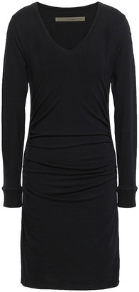 Enza Costa Stretch Cotton And Cashmere-blend Mini Dress
