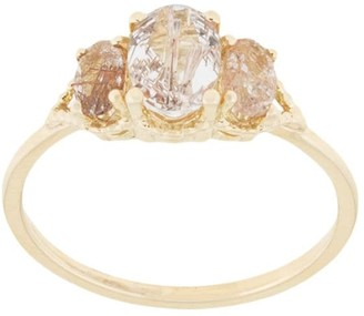 Natalie Marie 14kt yellow gold Precious Trio Oval Wrap ring