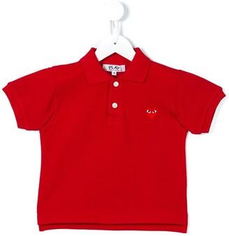 Comme Des Garçons Play Kids Heart Logo Polo Shirt