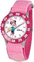 Disney Watch, Kid's Minnie Mouse Time Teacher Pink Strap 31mm W000024