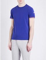 Moncler Stripe-trim stretch-cotton T-shirt