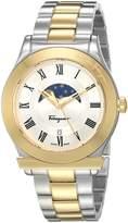 Salvatore Ferragamo Men's 'FERAGAMO 1898' Quartz Stainless Steel Casual Watch, Color:Two Tone (Model: FBG060016)