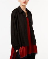 DKNY Button-Front Topper Jacket