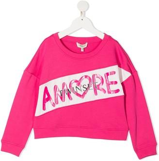 Twin-Set Amore crew neck sweatshirt