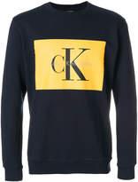 CK Calvin Klein logo patch sweatshirt